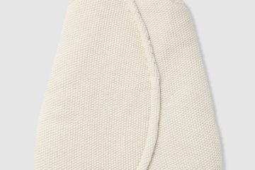 Ärmelloser Schlafsack aus Strick creme Größe 85Cm von vertbaudet