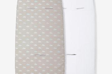 2 Überzüge für Babywannen/Kinderwagen farblich sortiert von vertbaudet