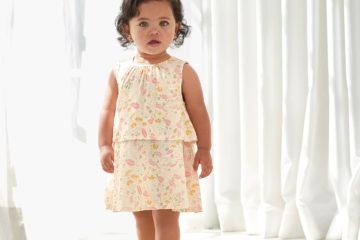 2-in-1-Kleid für Baby Mädchen