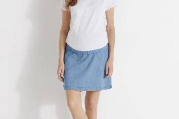 2-in-1-Kleid für die Schwangerschaft weiß/double stone