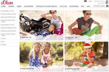 Kindermode im s.Oliver Shop Screenshot