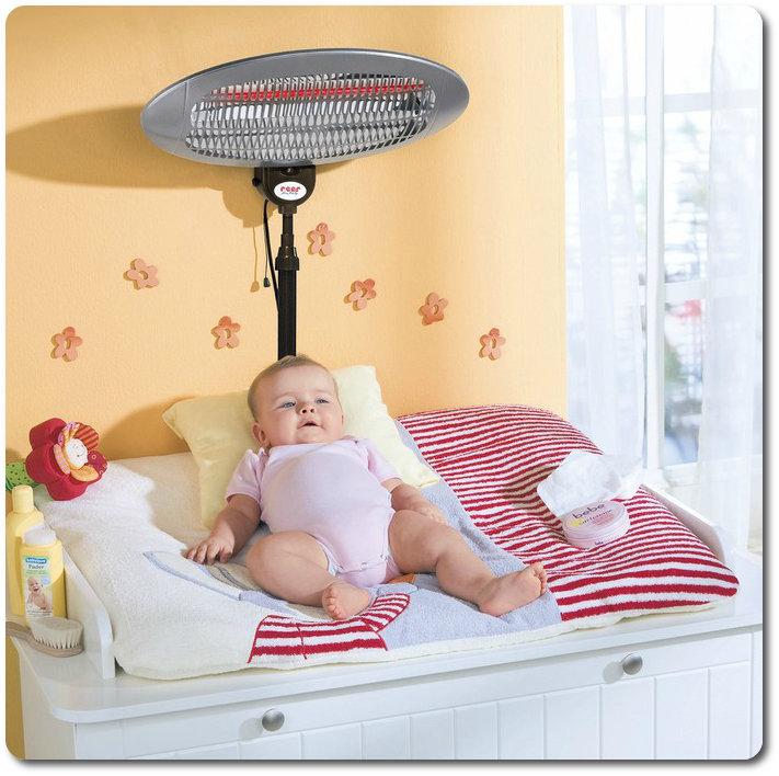 foto heizstrahler f r den wickeltisch mein erstes. Black Bedroom Furniture Sets. Home Design Ideas