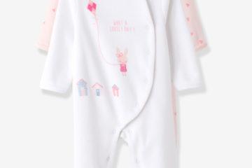 2er-Pack Samt Strampler für Babys rosa+weiß