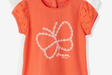 2er-Pack Shirts für Baby Mädchen orange+wollweiß