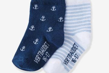 2er-Pack Socken für Baby Jungen farblich sortiert