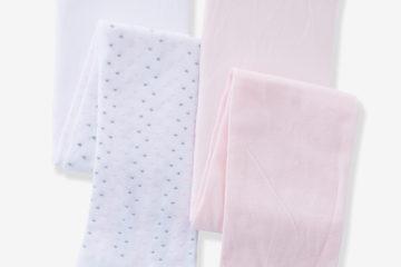 2er-Pack Strumpfhosen Baby Mädchen rosa+weiß/rosa getupft