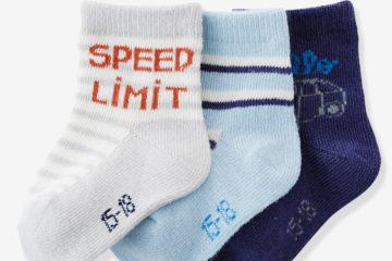 3er-Pack Socken für Baby Jungen
