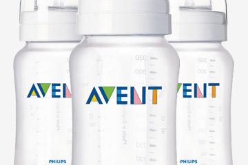 3er-Set Babyflaschen 330 ml von Philips Avent transparent