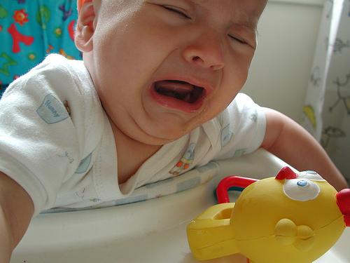 Babys schreien in der Muttersprache