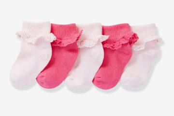 5er-Pack Socken Baby Mädchen pack rosa