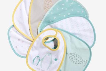 7er-Pack Lätzchen für Babys farblich sortiert von vertbaudet