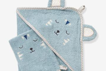 Baby Badetuch mit Waschhandschuh