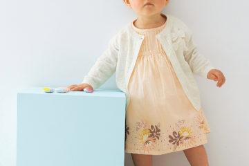 Baby Kleid für Mädchen beigerosa