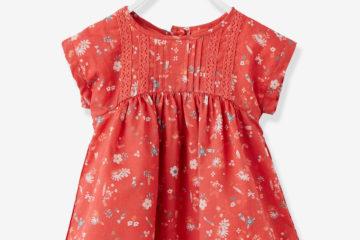 Baby Kleid für Mädchen himbeer bedruckt