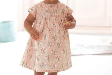 Baby Kleid für Mädchen rosa bedruckt