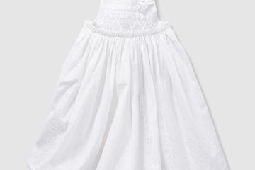 Baby-Set aus Festkleid und Spielhose weiß