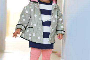 Baby Strickkleid für Mädchen marine gestreift