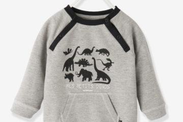 Baby Sweatshirt für Jungen grau meliert