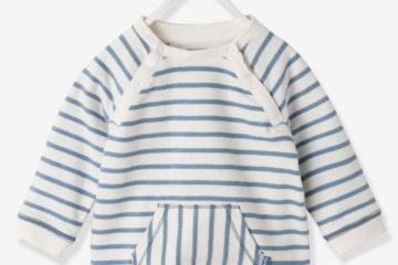 Baby Sweatshirt für Jungen weiß gestreift