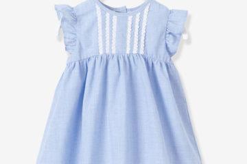Babykleid mit integrierter Hose blau