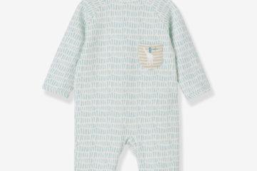 Babystrampler aus Sweatware wollweiß bedruckt