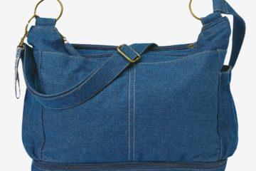 Babywickeltasche ´´Trendycity´´ mit Zubehör jeansblau von vertbaudet