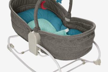 Babywippe ´´Babylounger´´ blau/grau von vertbaudet