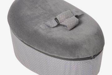 Babywippe und mitwachsendes Sitzkissen Néonid grau von vertbaudet