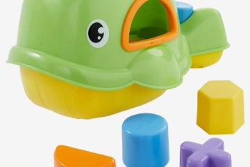 Badewannen-Sortierspiel mit Wal mehrfarbig von vertbaudet