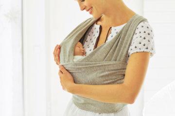 Baumwoll-Tragetuch für Babys grau meliert von vertbaudet