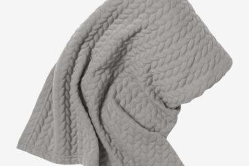 Baumwoll-Tragetuch für Babys grau von vertbaudet