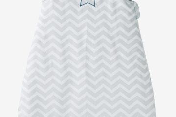 Bestickbarer Babyschlafsack blau zickzack Größe 85Cm von vertbaudet