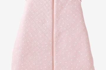 Bestickbarer Babyschlafsack rosa sterne Größe 85Cm von vertbaudet