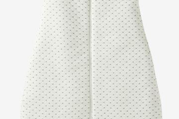 Bestickbarer Winter-Schlafsack für Babys wollweiß Größe 105Cm von vertbaudet