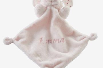Bestickbares Schmusetuch ´´Schlappohr´´ rosa von vertbaudet