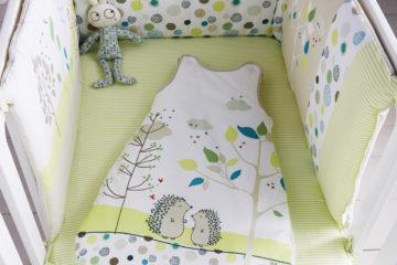 Bettumrandung aus Baumwolle mehrfarbig Größe 180X40 von vertbaudet