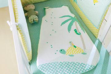 Bettumrandung für Babys weiß/grün Größe 360X40 von vertbaudet