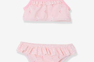 Bikini für Baby Mädchen rosa bedruckt