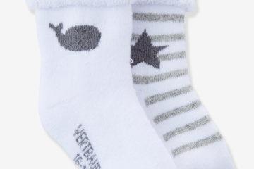 Bio-Kollektion: 2er-Pack Socken für Babys pack grau