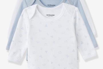 Bio-Kollektion: 3er-Pack Baby Bodys Langarm pack blau