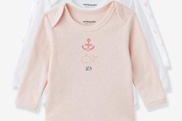 Bio-Kollektion: 3er-Pack Baby Bodys Langarm pack rosa