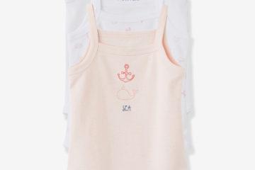 Bio-Kollektion: 3er-Pack Baby Träger-Bodys pack rosa