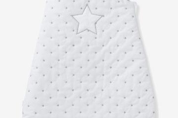 Bio Kollektion: Baby Schlafsack ´´Sternenregen´´ weiß sterne Größe 105Cm von vertbaudet