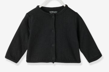 Bio-Kollektion: Cardigan für Neugeborene schwarz