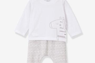 Bio-Kollektion: Shirt und Hose für Babys beige