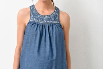 Bluse für Schwangerschaft und Stillzeit blue stone
