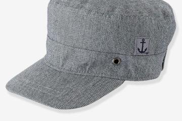 Cap für Baby Jungen grau gestreift