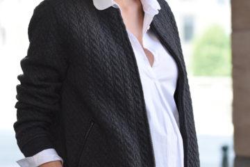 Cardigan für die Schwangerschaft grau