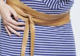 Doppelgürtel für die Schwangerschaft camelfarben