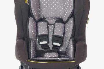 Drehbarer Auto-Kindersitz +/1 ´´rotasit´´ anthrazit/sterne von vertbaudet